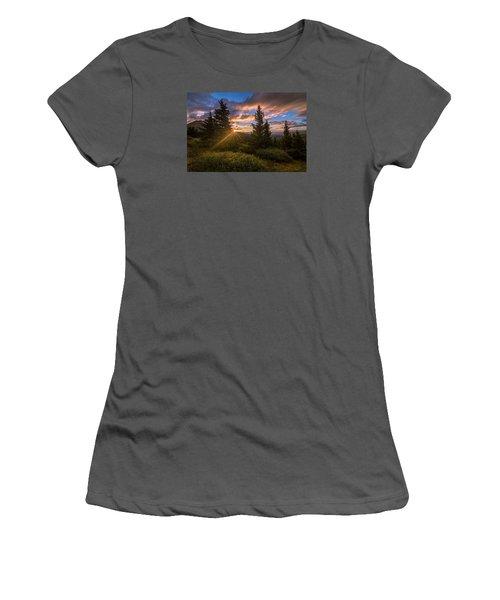 Georgia Pass Sun Rays Women's T-Shirt (Junior Cut) by Michael J Bauer
