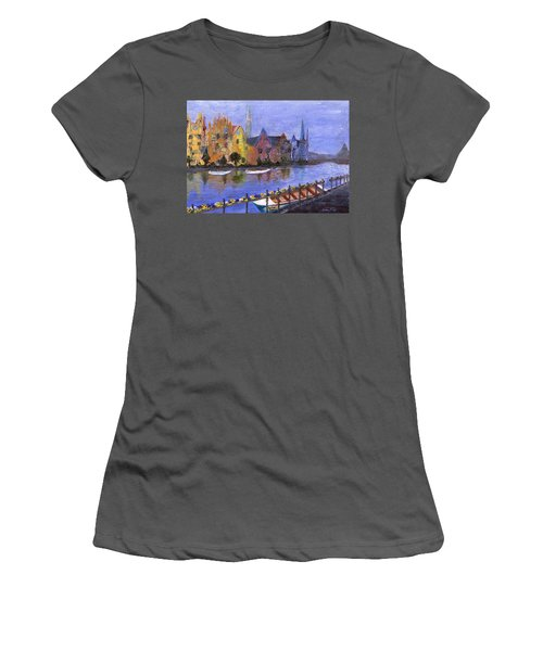 Women's T-Shirt (Athletic Fit) featuring the painting Ghent by Jamie Frier