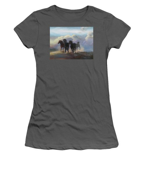 Ghost Horses Women's T-Shirt (Athletic Fit)