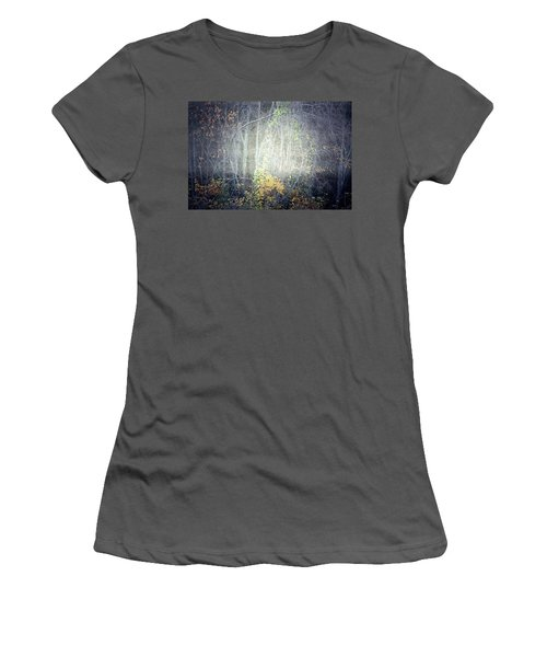 Women's T-Shirt (Junior Cut) featuring the photograph Ghosts Of The Forest 2 by Tara Turner
