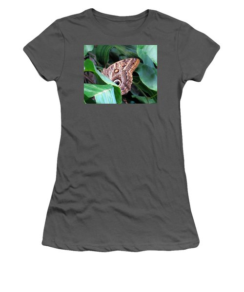 Giant Owl Butterfly Women's T-Shirt (Athletic Fit)