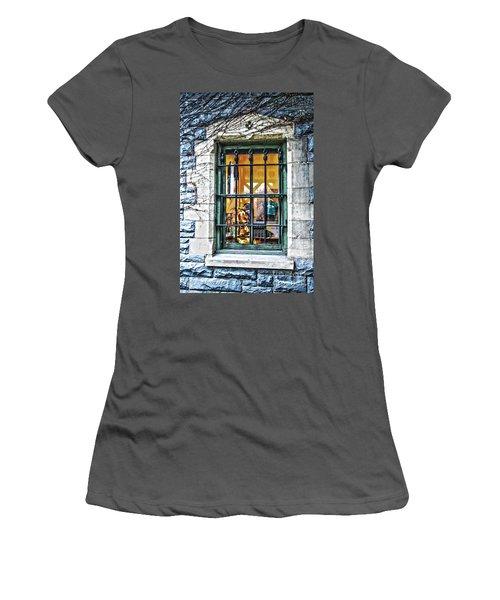 Gift Shop Window Women's T-Shirt (Junior Cut) by Sandy Moulder