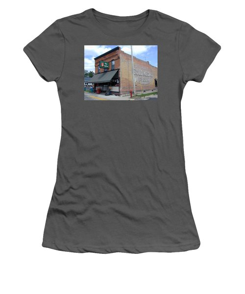 Women's T-Shirt (Junior Cut) featuring the photograph Gina's Pies Are Square by Mark Czerniec
