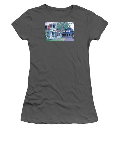 Gingerbread Houses Oak Bluff Martha's Vineyard Women's T-Shirt (Athletic Fit)