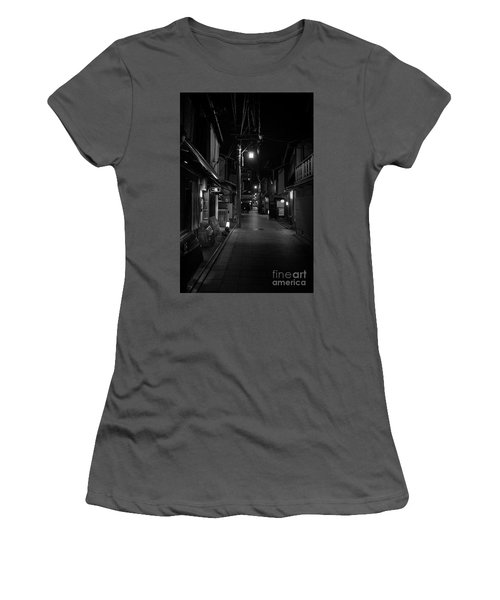 Gion Street Lights, Kyoto Japan Women's T-Shirt (Athletic Fit)