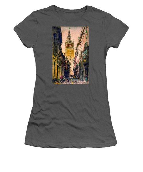 Giralda 1916 Women's T-Shirt (Junior Cut) by Padre Art