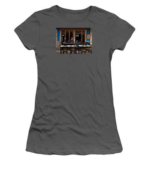 Women's T-Shirt (Junior Cut) featuring the photograph Girl Watching by Laura Ragland