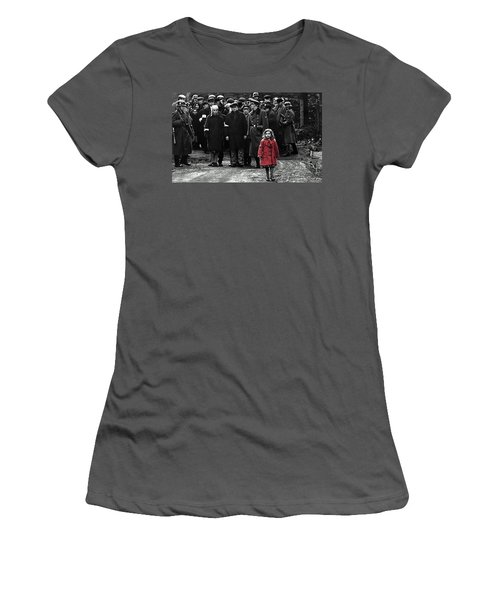 Girl With Red Coat Publicity Photo Schindlers List 1993 Women's T-Shirt (Athletic Fit)