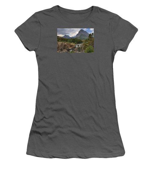Glacier National Park Landscape Women's T-Shirt (Junior Cut) by Alan Toepfer