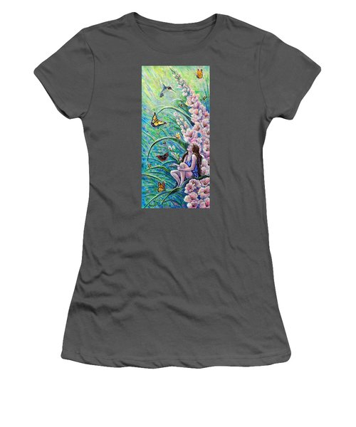 Glad To Be Here Women's T-Shirt (Junior Cut) by Gail Butler