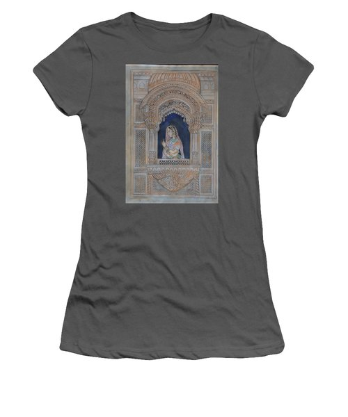 Glancing From Her Window Women's T-Shirt (Junior Cut) by Vikram Singh