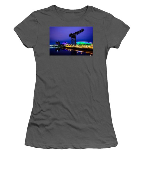 Glasgow At Night Women's T-Shirt (Athletic Fit)