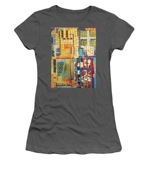 Women's T-Shirt (Junior Cut) featuring the painting Glass Bottom Boeing by Donna Howard