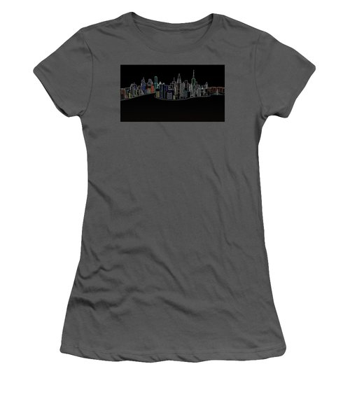 Glowing City Women's T-Shirt (Junior Cut) by Thomas M Pikolin