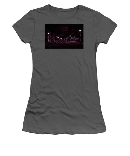 Glowing Streets Downtown Women's T-Shirt (Athletic Fit)