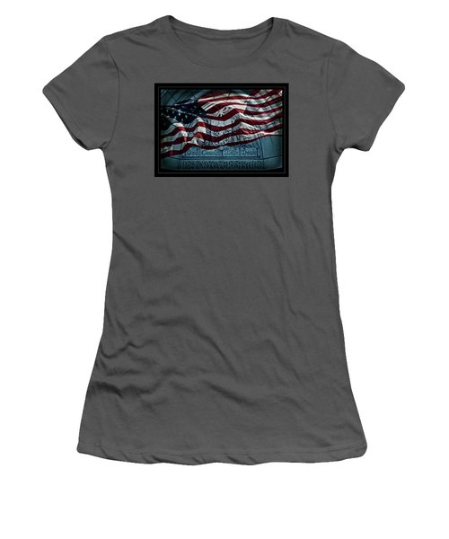 God Country Notre Dame American Flag Women's T-Shirt (Athletic Fit)