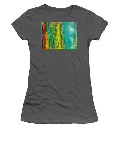 God Has Moved  Into The Neigborhood Women's T-Shirt (Junior Cut) by Dan Whittemore