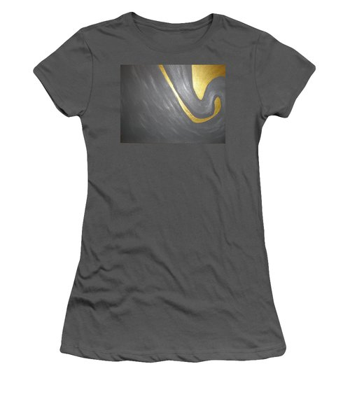Gold And Gray Women's T-Shirt (Junior Cut) by Barbara Yearty