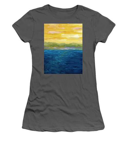 Gold And Pink Sunset  Women's T-Shirt (Athletic Fit)
