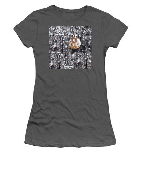 Women's T-Shirt (Junior Cut) featuring the photograph Gold Christmas by Ulrich Schade