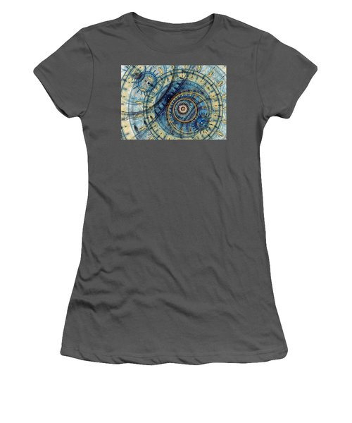 Golden And Blue Clockwork Women's T-Shirt (Athletic Fit)