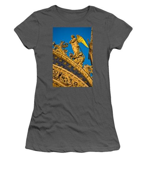 Golden Angel Women's T-Shirt (Athletic Fit)