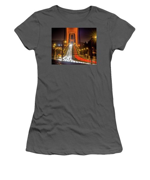 Golden Gate Traffic Women's T-Shirt (Athletic Fit)