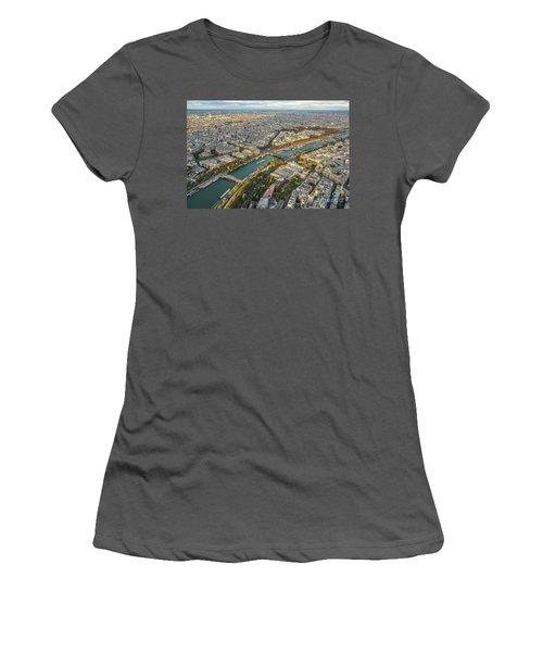Golden Light Along The Seine Women's T-Shirt (Junior Cut) by Mike Reid