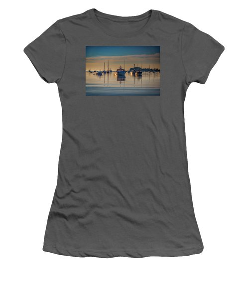 Women's T-Shirt (Athletic Fit) featuring the photograph Golden Morning In Tenants Harbor by Rick Berk