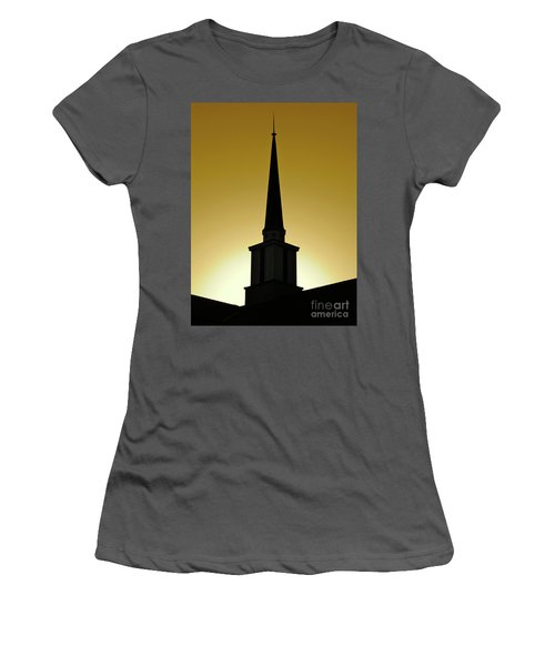 Golden Sky Steeple Women's T-Shirt (Athletic Fit)