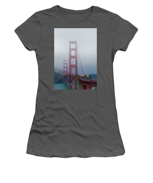 Women's T-Shirt (Junior Cut) featuring the photograph Golden State Golden Gate  by Joseph Hollingsworth