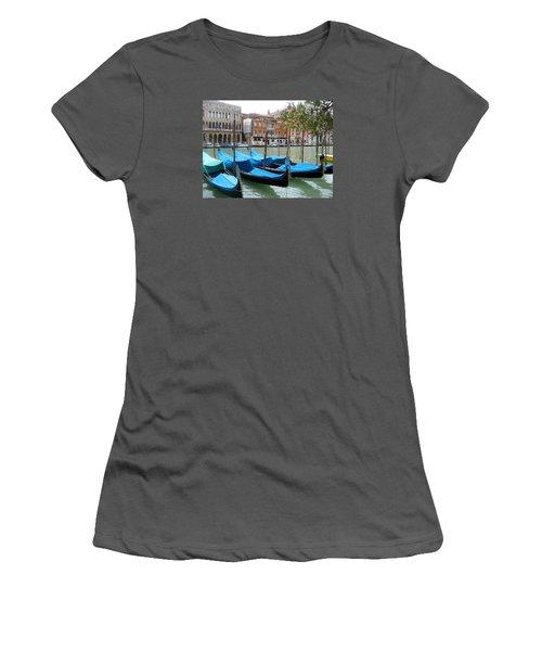 Gondolas Of Venice Women's T-Shirt (Athletic Fit)