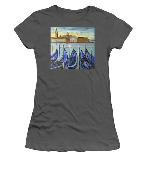 Gondolas Women's T-Shirt (Junior Cut) by Victoria Lakes