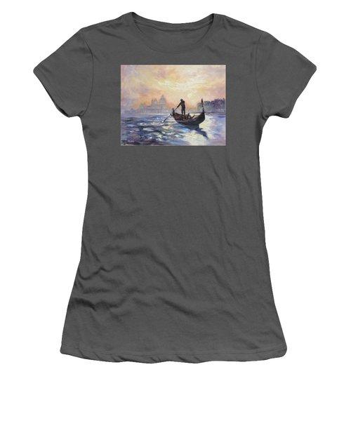 Gondolier Women's T-Shirt (Junior Cut) by Irek Szelag