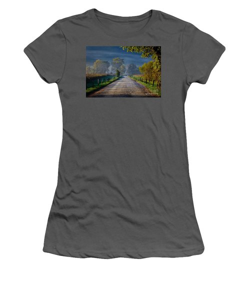 Good Morning Cades Cove 3 Women's T-Shirt (Athletic Fit)