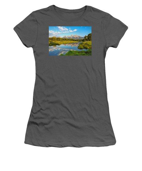 Good Morning Tetons Women's T-Shirt (Athletic Fit)
