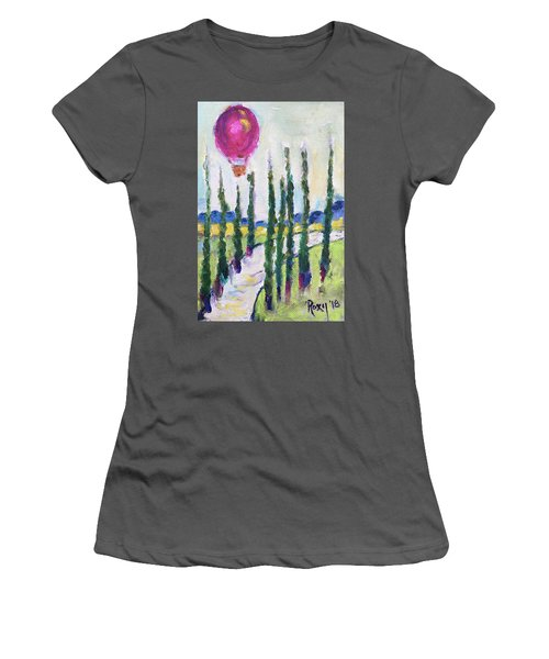 Good Morning Wine Country Women's T-Shirt (Athletic Fit)