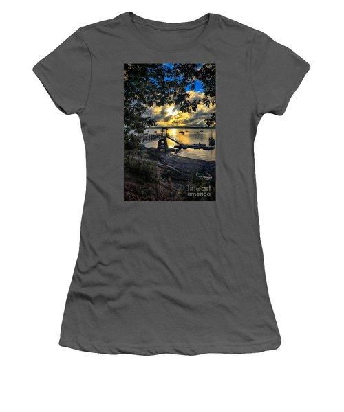 Good Night Madeleine Point Women's T-Shirt (Junior Cut) by Elizabeth Dow