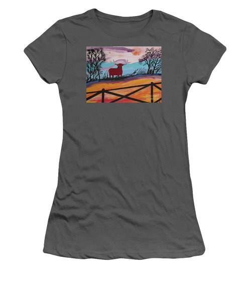 Women's T-Shirt (Junior Cut) featuring the painting Goodbye My Lover by Jeffrey Koss