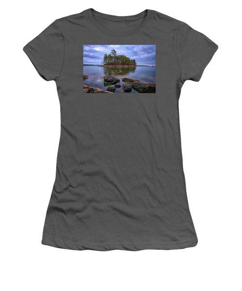 Googins Island Women's T-Shirt (Junior Cut) by Rick Berk