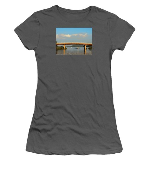Women's T-Shirt (Junior Cut) featuring the photograph Governor's Island Bridge by Mim White