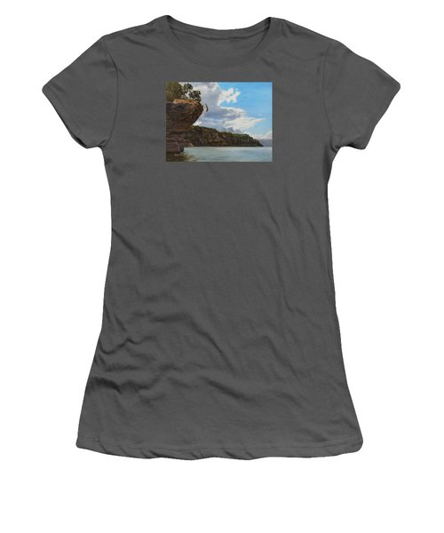 Graceful Cliff Dive Women's T-Shirt (Athletic Fit)