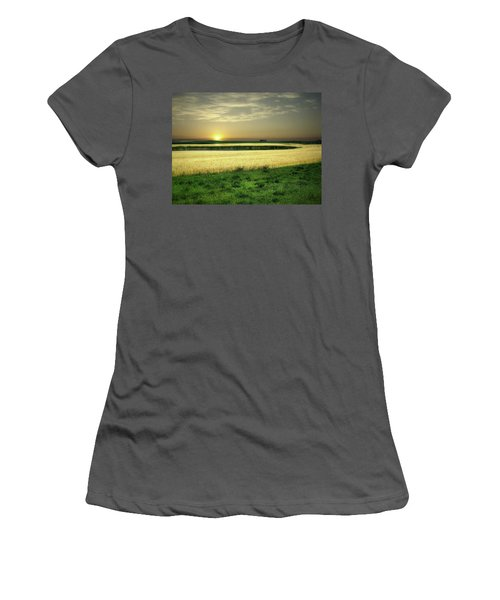 Grain Field Women's T-Shirt (Athletic Fit)