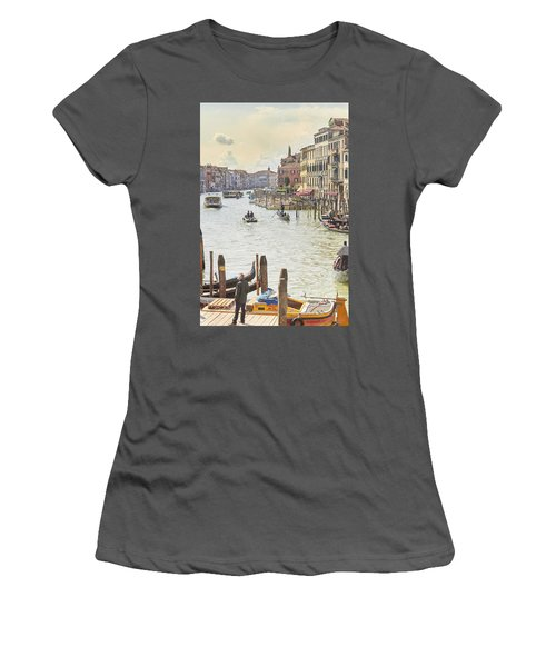 Grand Canal - The Most Famous Canal In Venice Women's T-Shirt (Athletic Fit)