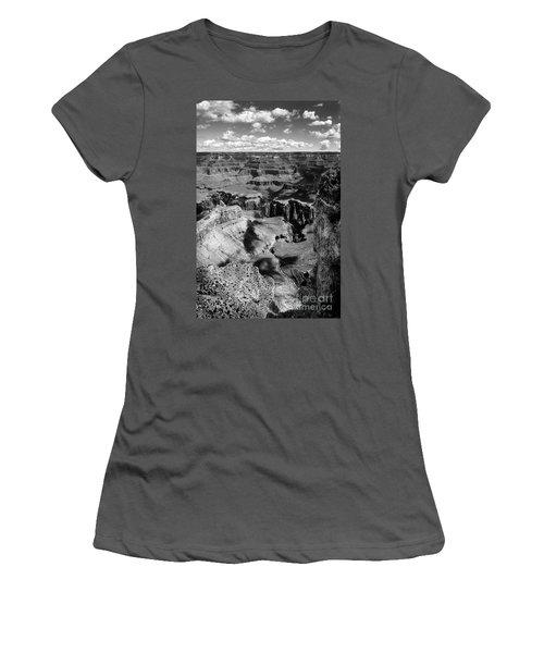 Grand Canyon Bw Women's T-Shirt (Junior Cut) by RicardMN Photography