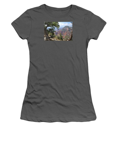 Grand Canyon North Rim - Through The Trees Women's T-Shirt (Athletic Fit)