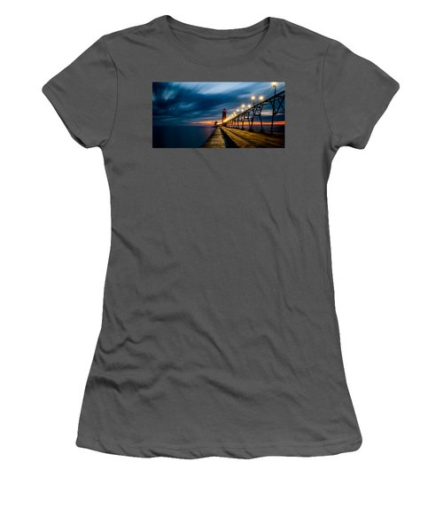 Grand Haven Lighthouse Women's T-Shirt (Athletic Fit)