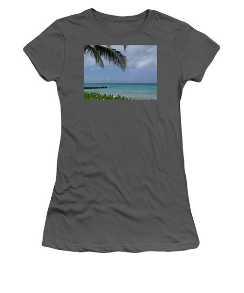 Women's T-Shirt (Junior Cut) featuring the photograph Grand Turk by Lois Lepisto