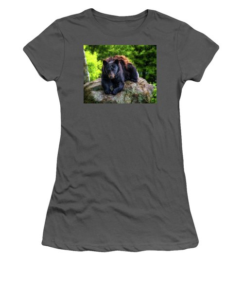 Grandfather Mountain Black Bear Women's T-Shirt (Athletic Fit)