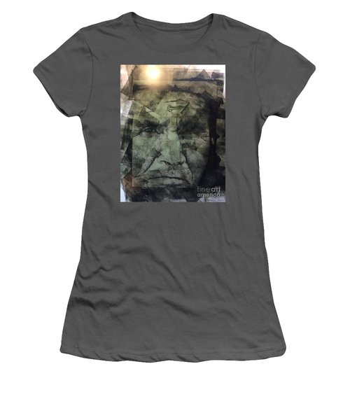 Granite Faces Of Men And Mountains Women's T-Shirt (Athletic Fit)